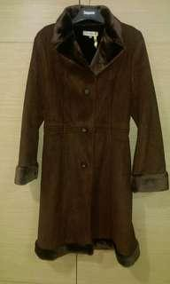 🚚 馬獅龍MICHEL RENE大衣,9成新,咖啡色,尺寸S