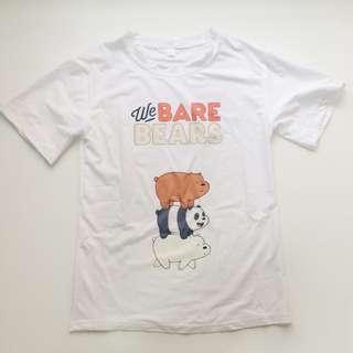 🚚 全新/ we bare bears 熊熊遇見你 短袖T恤