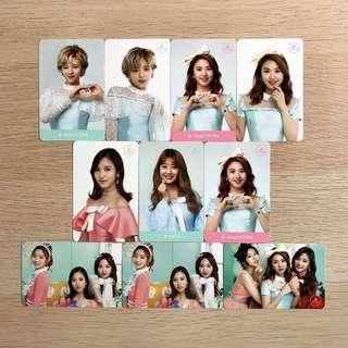OFFICIAL Twice Twiceland Photocard Jeongyeon Chaeyoung Mina Jihyo Dahyun Nayeon Sana Tzuyu