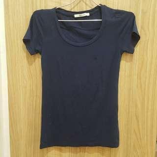 Zara Basic Navy Blue Tshirt