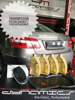 Mercedes E200 : Transmission Filter/Gasket/Fluid replacement