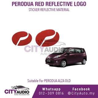 PERODUA ALZA OLD Red Reflective LOGO