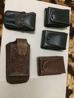 Vintage leather case / barangan kulit made in USA
