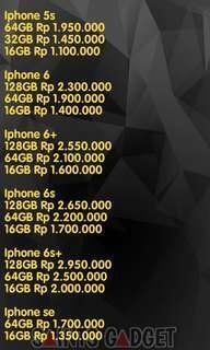 PRICE LIST IPHONE