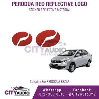 PERODUA BEZZA Red Reflective LOGO