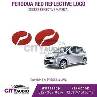 PERODUA VIVA Red Reflective LOGO