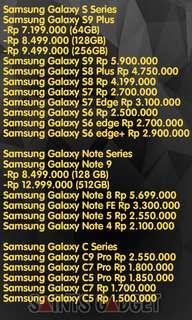 Price List Samsung