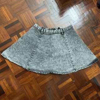 EUR36 H&M Denim Skater Skirt