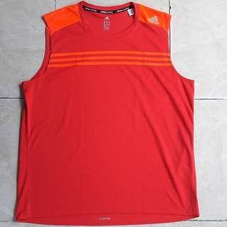 Adidas gym sleevless tee Kaos original