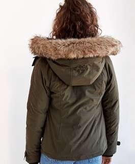 TNA green parka