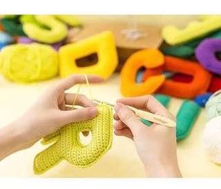 🚚 手作鉤針幼兒益智玩具材料包_字母