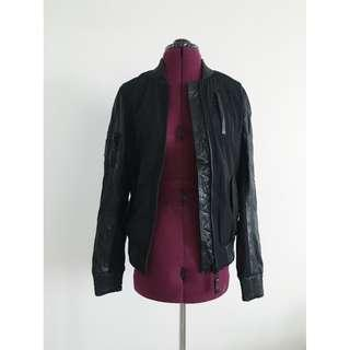 RUDSAK - Leather Detail Bomber Jacket (M)