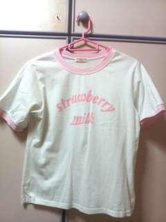 Korean Strawberry Milk Shirt