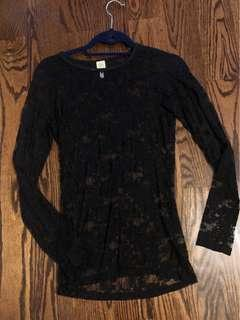 Lace Long-Sleeve Shirt - Mendocino Size S