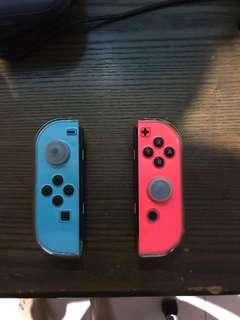 Nintendo switch blue and neon red