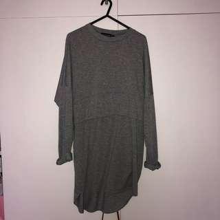 Grey layer dress prettylittlething