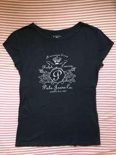🚚 🛒清倉特價🛒 Polo Jeans Co. 女版 短袖黑T恤 XS號