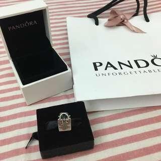 🚚 🛒清倉特價🛒 PANDORA 潘朵拉 經典購物袋串飾 925銀 近全新 附珠寶盒及紙袋+緞帶