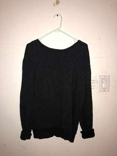 Aritzia Community Black Sweater