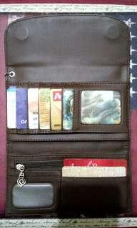 Planet Ocean Wallet Brown