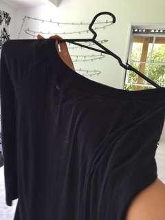 Black tightish long sleeve dress