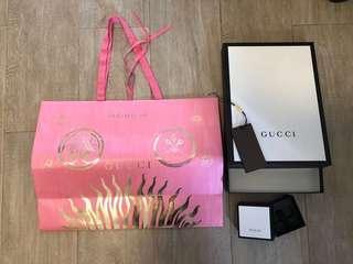 Gucci 名牌紙袋 & 盒