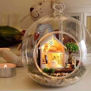 DIY miniature doll house in glass ball