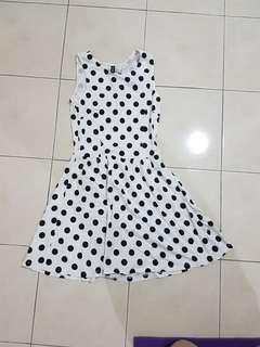 Hnm Polka Dot Dress