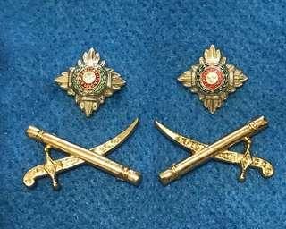 英軍軍官肩章  British Army  officer rank badges