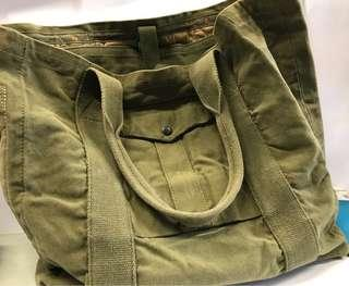 Polo army green bag