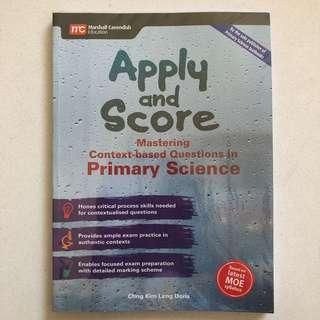 🚚 (Free postage) PSLE Apply and Score Primary Science Guide Book