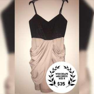 Wish Drape Mini Dress