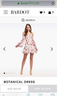 FOR RENT: Bardot botanical dress