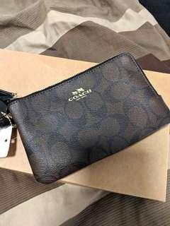 BNWT COACH Double Zip Wristlet Wallet