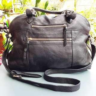 WICHERY 2 WAYS GENUINE LEATHER BAG