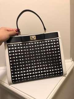 Navy & White Perforated Kate Spade Bag