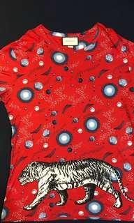 GUCCI SPACE TIGER 男T