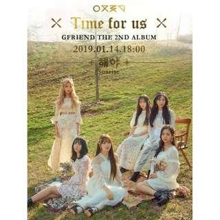 Gfriend Time For Us The 2nd Album (Update Notice)