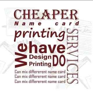 Name card &design and print