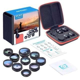 APEXEL 10 in 1 Smart Phone Camera Clip Lens Kit
