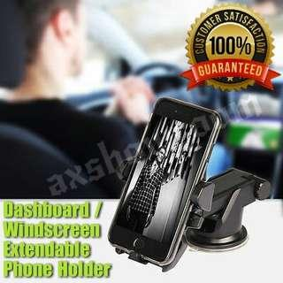 Dashboard / Windscreen Strong Suction Phone Holder With Adjustable Extendable Arm For Flexible Placement