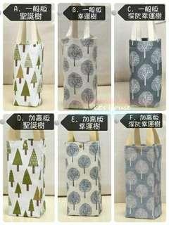 🚚 [要搬家了,現貨出清]棉麻感飲料杯袋&可收納防水購物袋