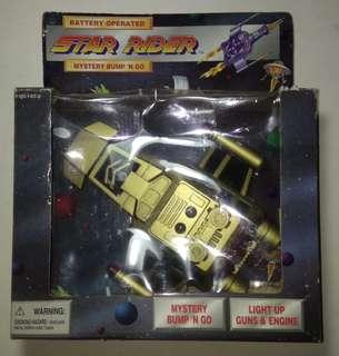 VINTAGE SOMA STAR RIDER SPACESHIP BATTERY NEW IN BOX BUMP N GO COLLECTIBLE 1997 TOY