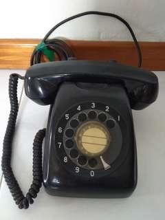 Vintage spin dial telephone