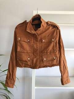 Tan Bershka Jacket