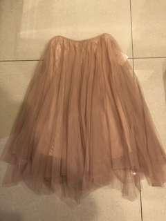 🚚 米色紗裙