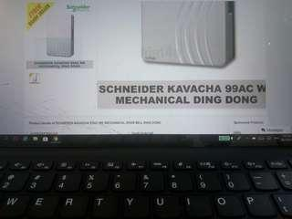 Schneider Kavacha 99AC We Mechanical DOOR Bell Ding Dong