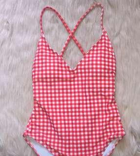 Red Gingham One Piece