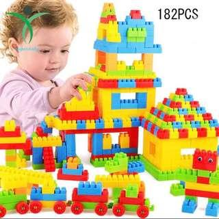 🚚 2 sets left! 182 pieces - building blocks/bricks