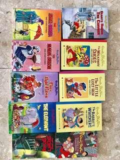 Reduced prices! Selling and clearing for really cheap! Famous children literature books! Enid Blyton series for cheap!